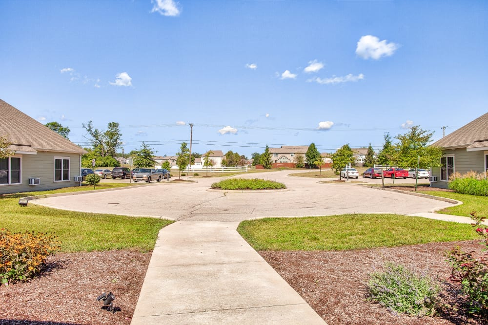 Path to courtyard at Landings of Huber Heights in Huber Heights, Ohio