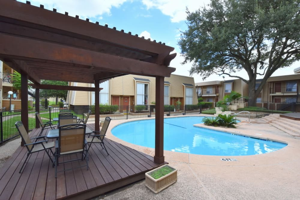 Fabulous swimming Pool at Falls of Maplewood Apartments in Houston, Texas