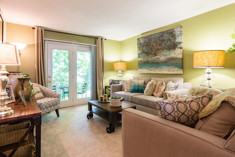 French doors at Harbor Village Apartments in Richmond, Virginia