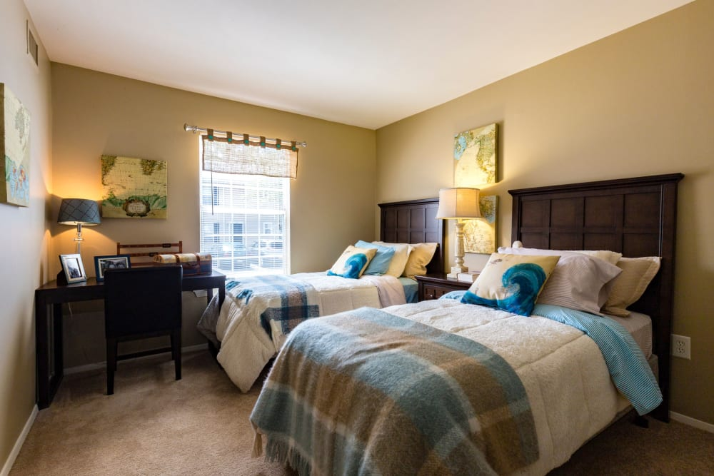 Guest bedroom at Harbor Village Apartments in Richmond, Virginia