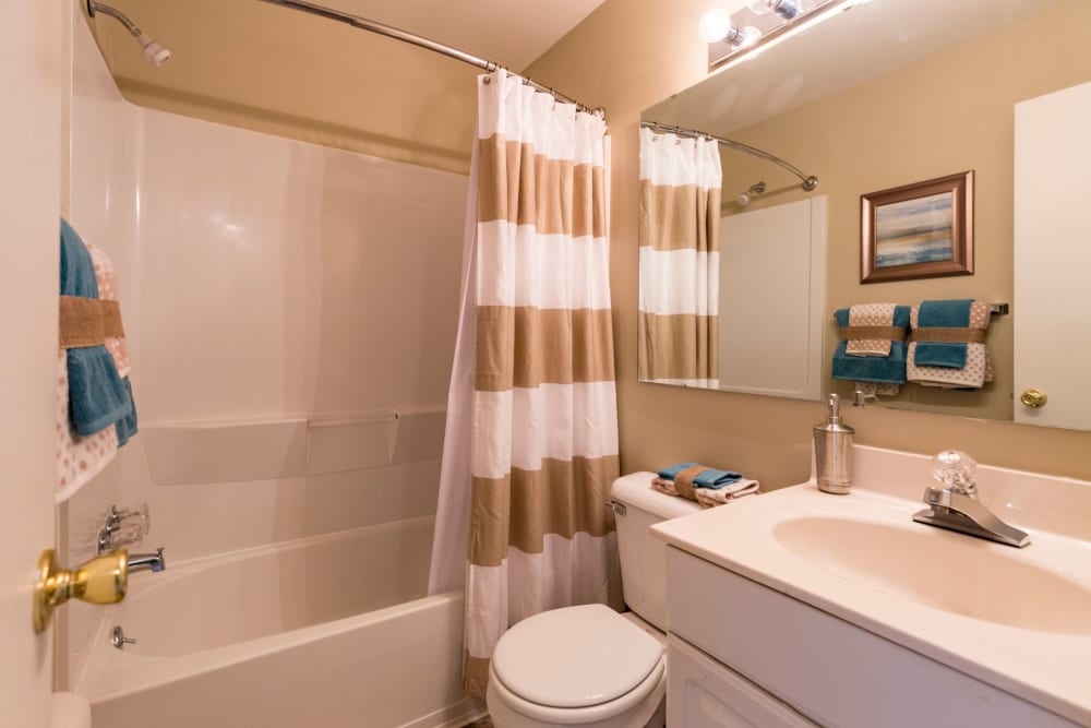 Bathroom at Harbor Village Apartments in Richmond, Virginia