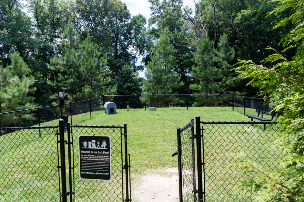 Dog park at Harbor Village Apartments in Richmond, Virginia