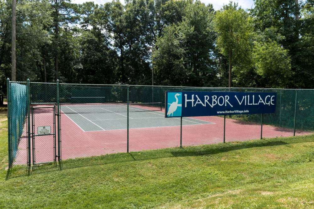 Harbor Village Apartments tennis court in Richmond, Virginia