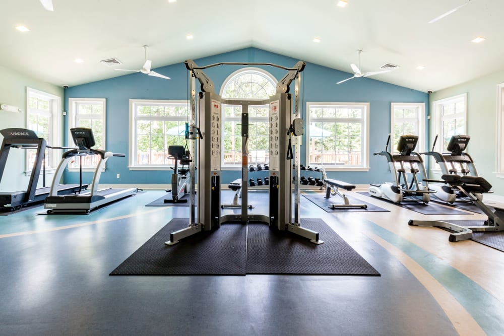 Harbor Village Apartments gym in Richmond, Virginia