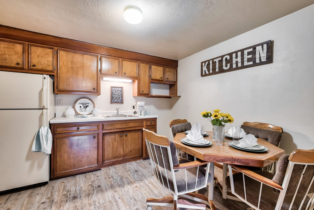 A kitchen at Birch Creek in De Pere, Wisconsin
