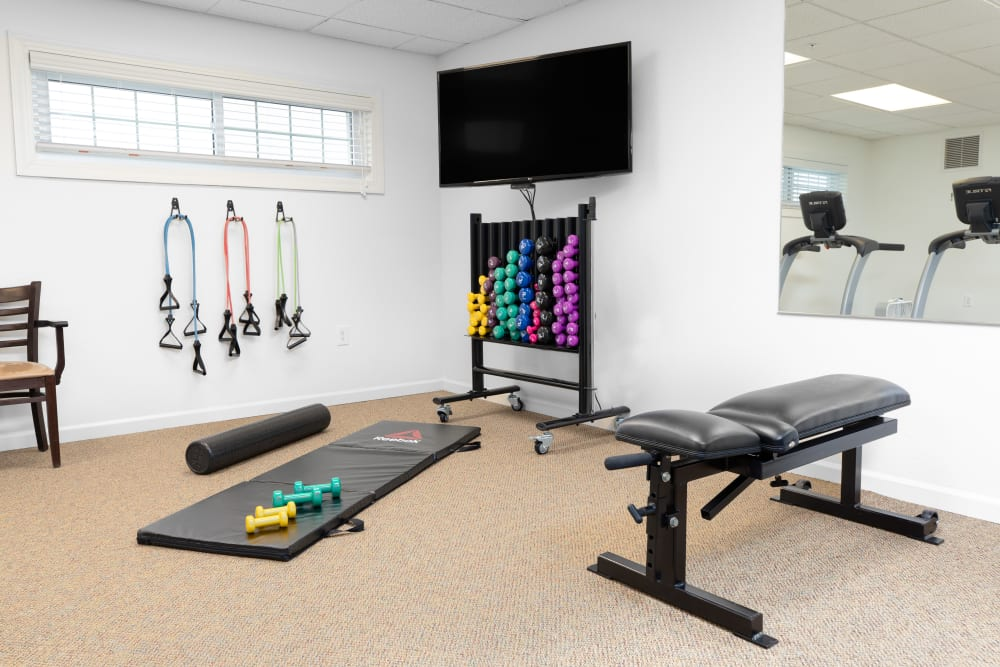 Exercise equipment at Touchmark on West Prospect
