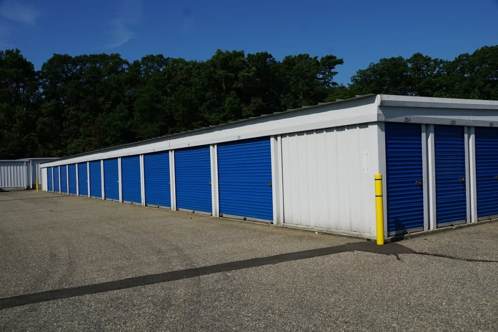 Outdoor storage units at Store It All Self Storage - Barnegat