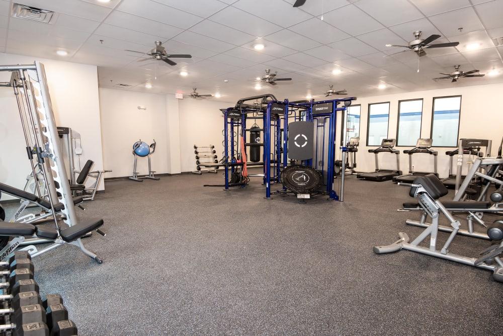 Enjoy Apartments with a Gym at Carrollton Park of North Dallas in Dallas, Texas