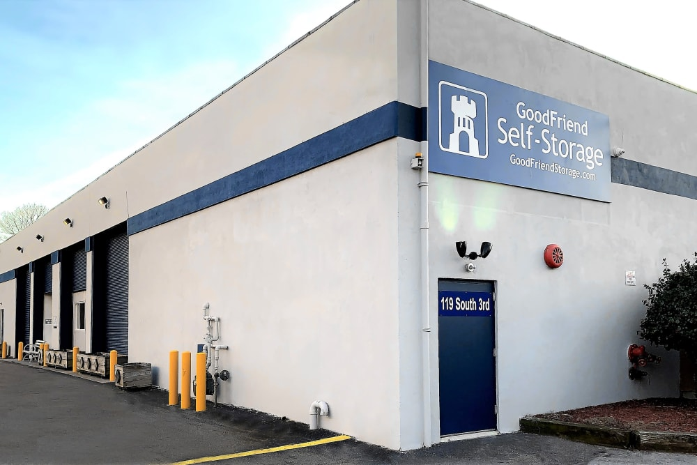 The exterior of GoodFriend Self Storage New Hyde Park in New Hyde Park, New York