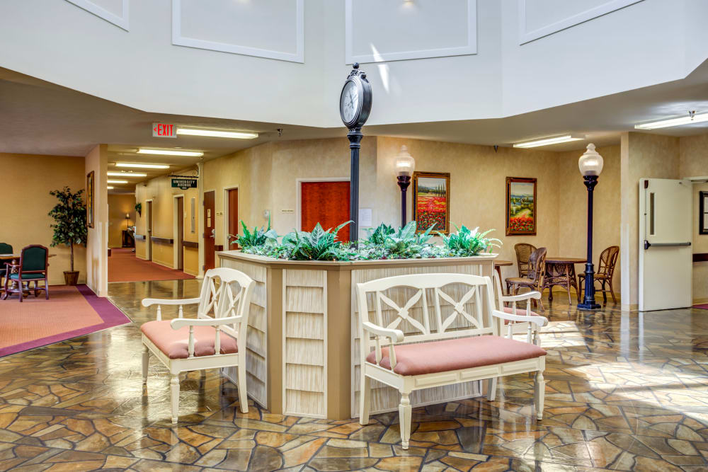 Greatroom and breezeway at Morrison Woods Health Campus in Muncie, Indiana