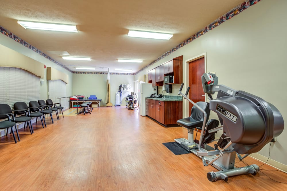 Fitness center at Morrison Woods Health Campus in Muncie, Indiana