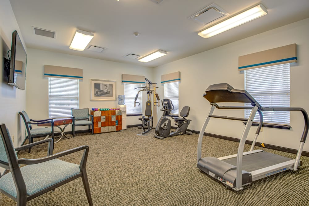 Treadmill at Forest Springs Health Campus in Louisville, Kentucky
