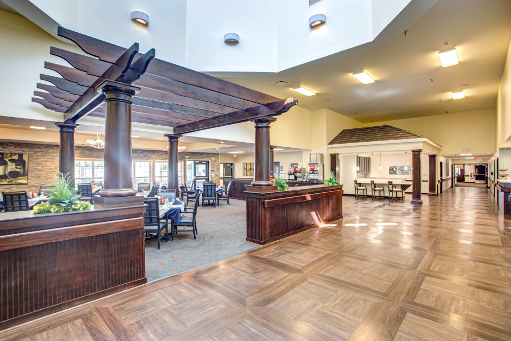 Lavish dining area at Forest Springs Health Campus in Louisville, Kentucky