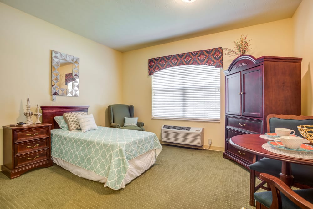 Model bedroom at The Willows at Citation in Lexington, Kentucky