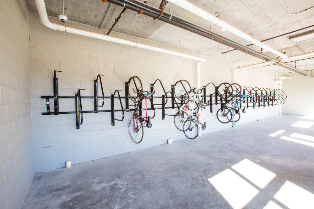 Bike racks available at 511 Meeting in Charleston, South Carolina
