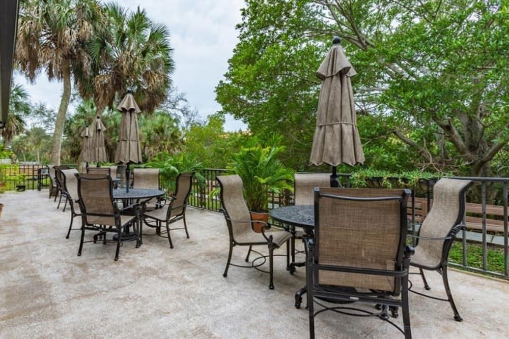 Outdoor seating at Grand Villa of Sarasota in Sarasota, Florida