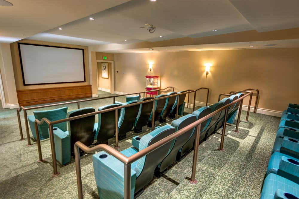 in-house theater at The Meridian at Boca Raton in Boca Raton, Florida