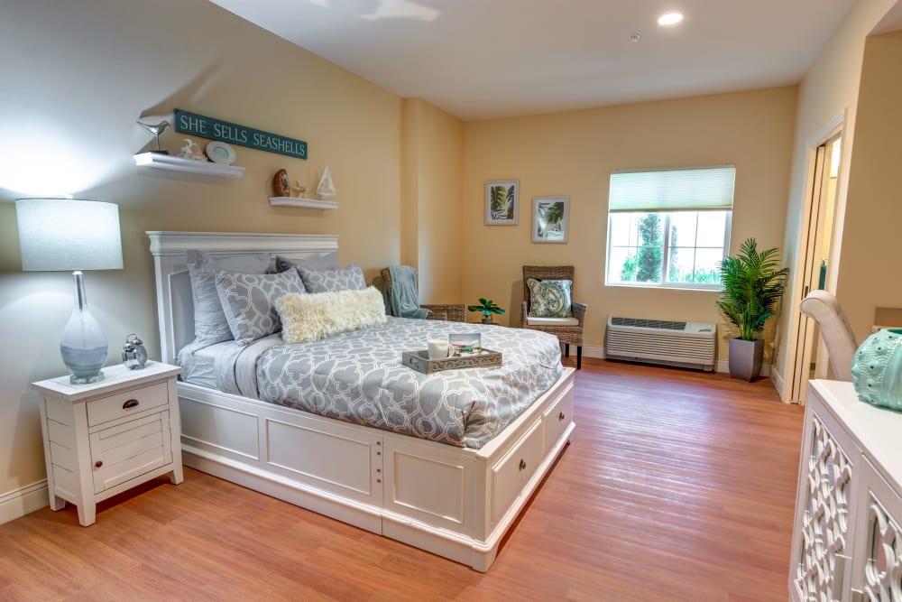 Studio senior apartment with hardwood floors at The Meridian at Boca Raton in Boca Raton, Florida