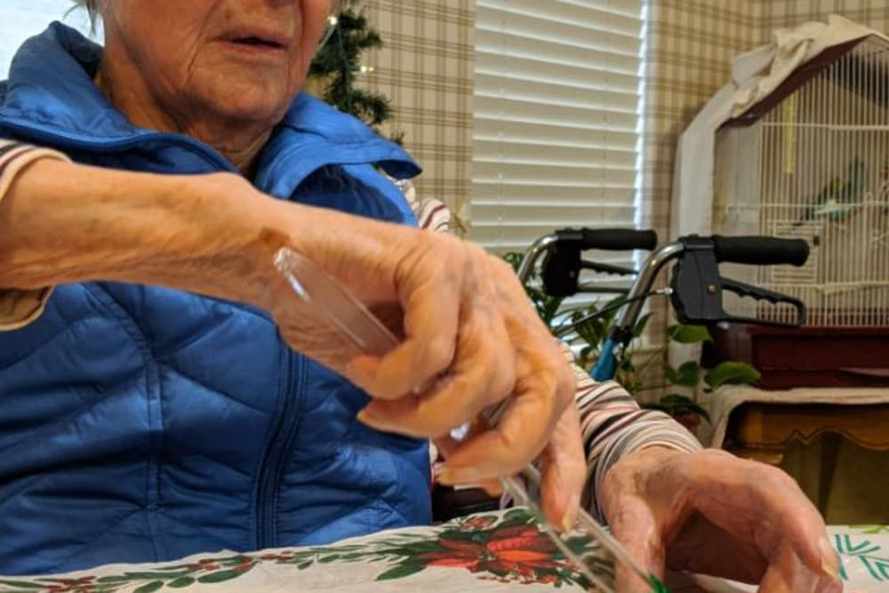 Making cookies at Sundial Assisted Living in Redding, California