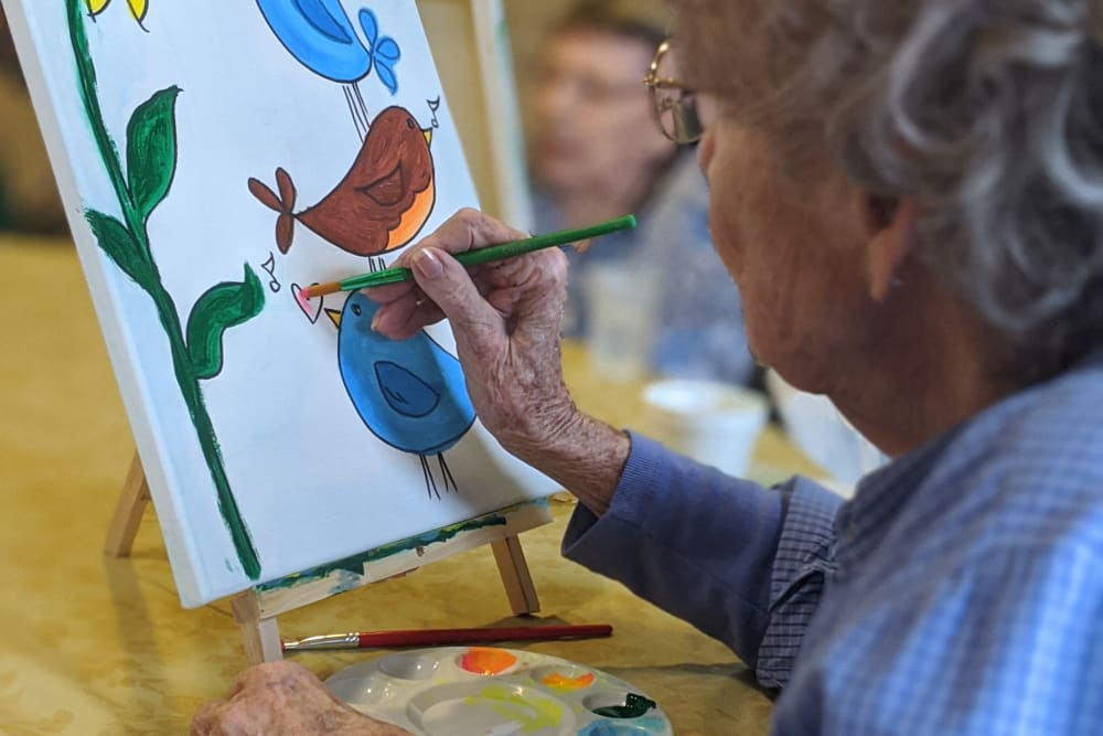 Painting at Sundial Assisted Living in Redding, California