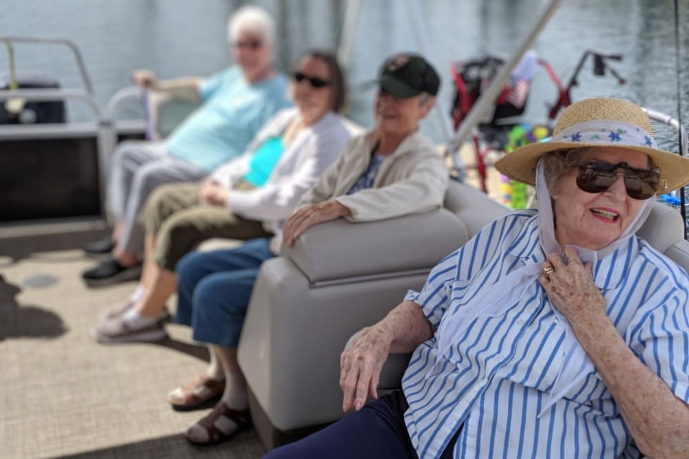 Boating fun at Sundial Assisted Living in Redding, California