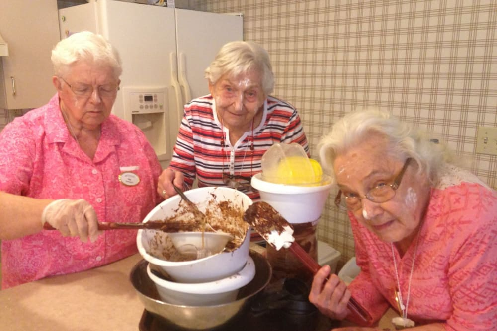 Baking time at Sundial Assisted Living in Redding, California