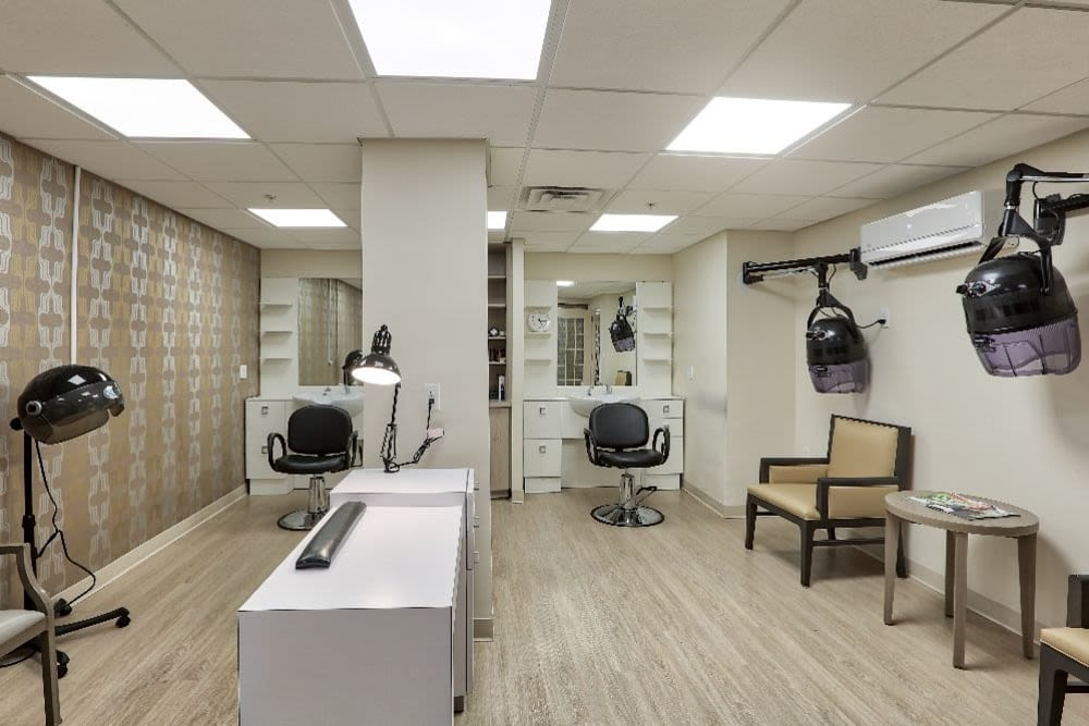 Onsite hair salon at Chevy Chase House in Washington, District of Columbia