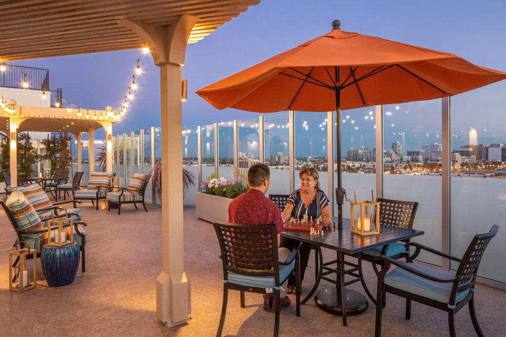 Terrace on top of Regency Palms Long Beach in Long Beach, California