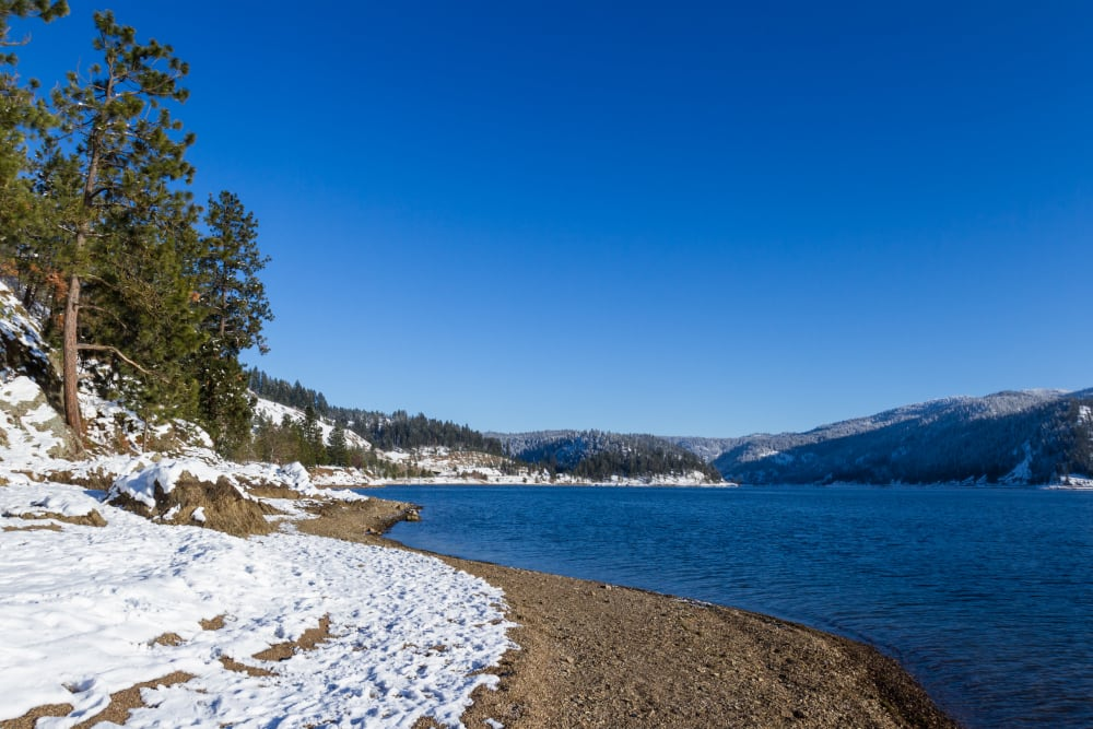 The lake near Honeysuckle Senior Living in Hayden, Idaho