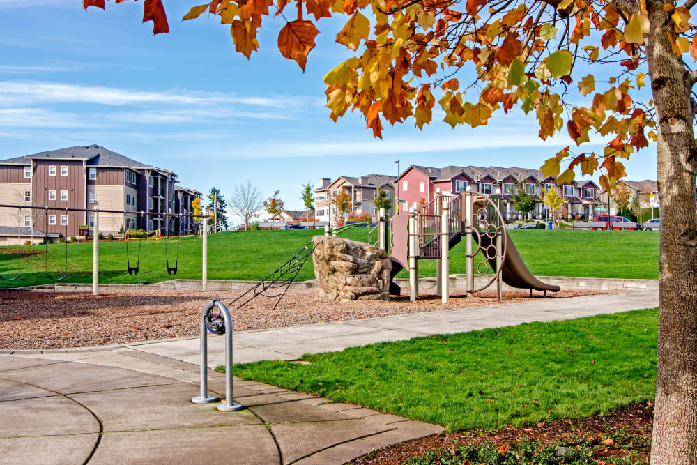 Onsite children's playground at Sofi at Cedar Mill in Portland, Oregon