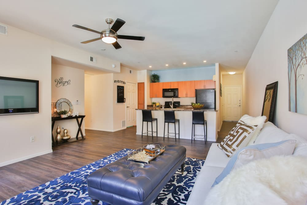 Beautiful open-concept floor plan in model home at Spectra on 7th South in Phoenix, Arizona