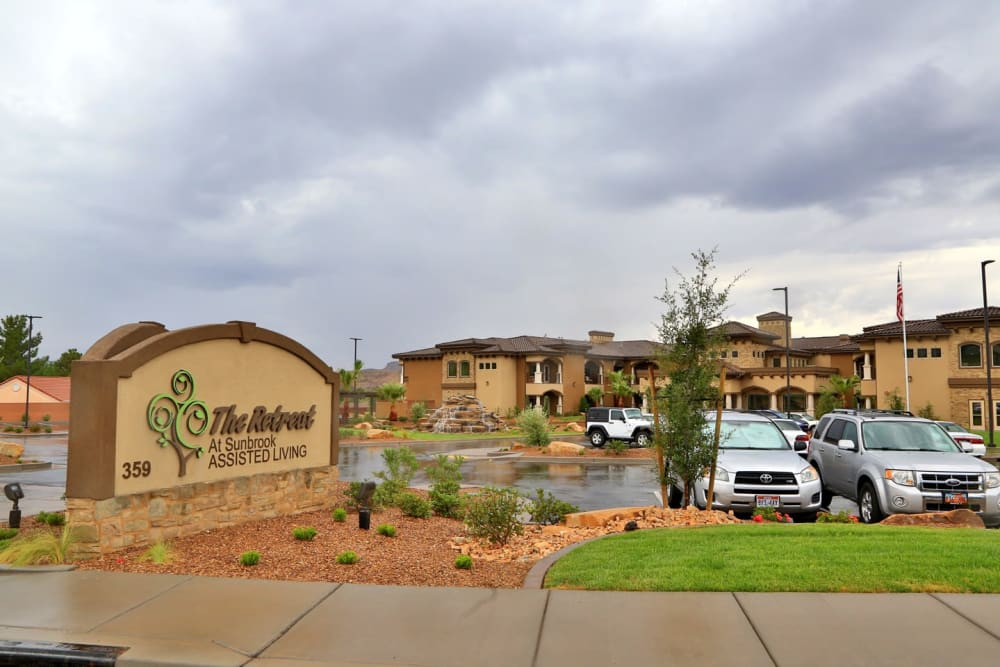 The front sign at The Retreat at Sunbrook in St. George, Utah