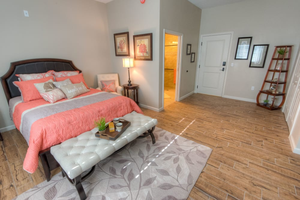 Resident bedroom at Inspired Living at Lakewood Ranch in Bradenton, Florida.
