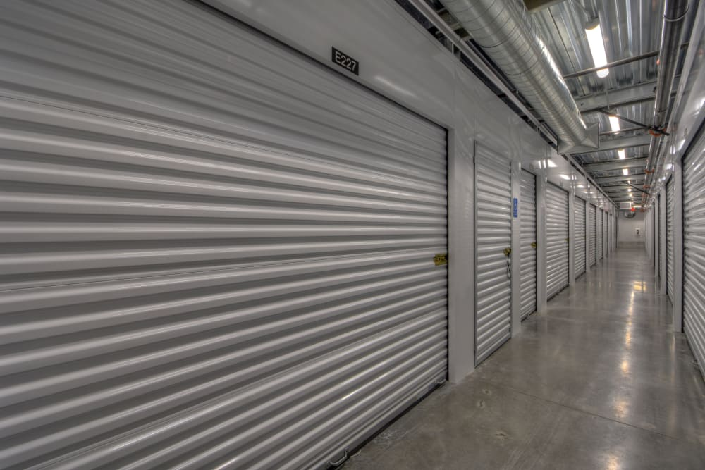 An indoor storage unit at My Self Storage Space in Spring Valley, Nevada
