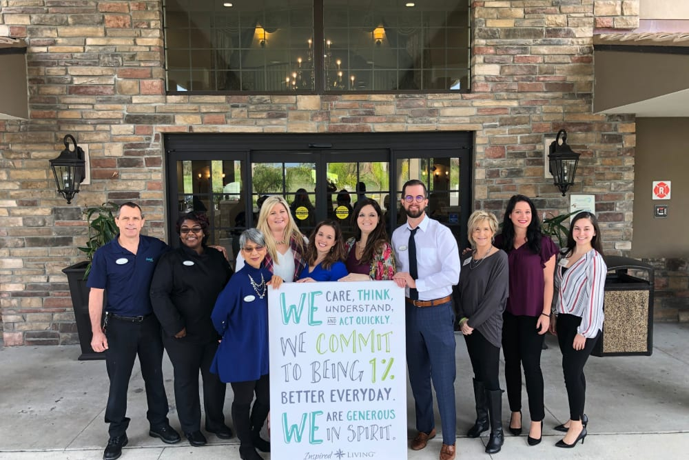 The staff and team members at Inspired Living Ocoee.