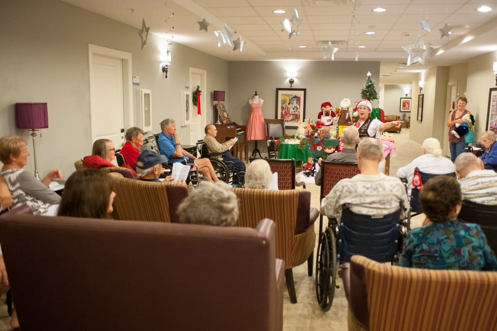 A resident holiday event at Inspired Living in Sun City Center, Florida.