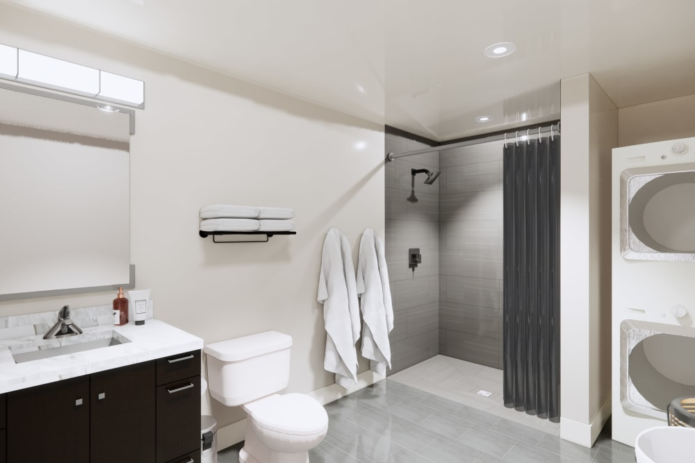 Bathroom at Apartments in Seattle, Washington