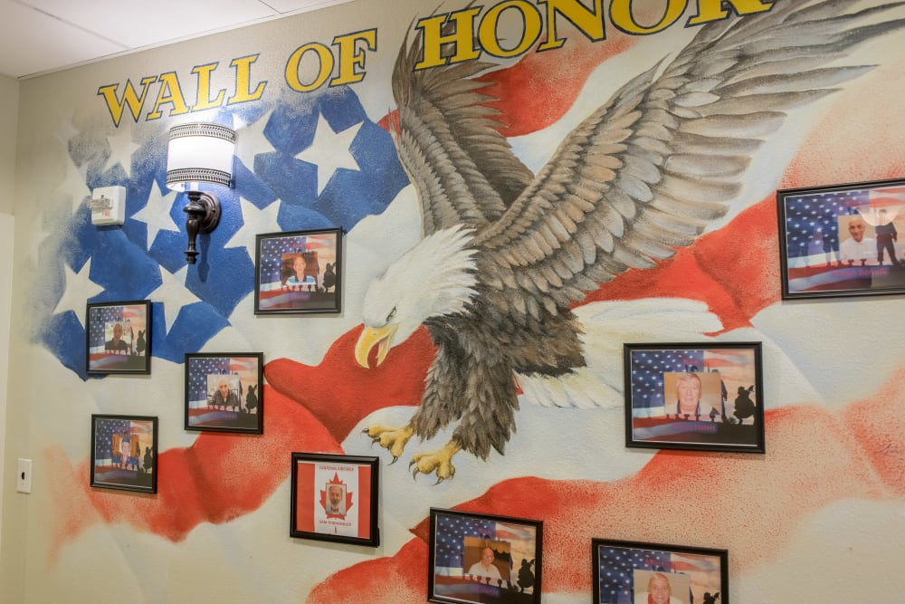 Wall of Honor at Inspired Living in Sun City Center, Florida.