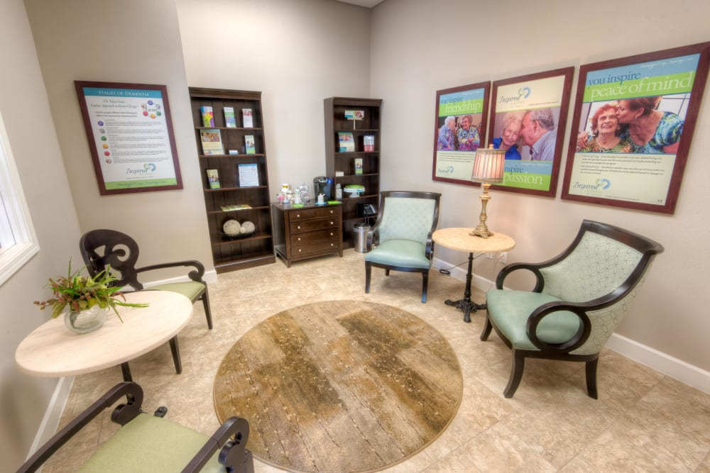 A meeting room at Inspired Living in Tampa, Florida.
