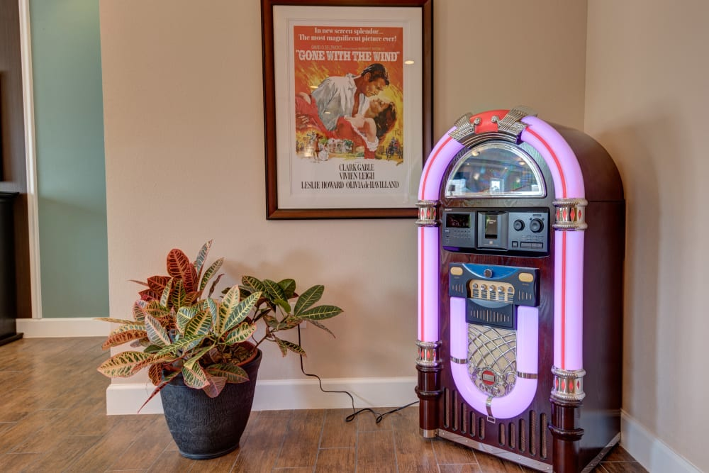 Jukebox at Inspired Living in Tampa, Florida.