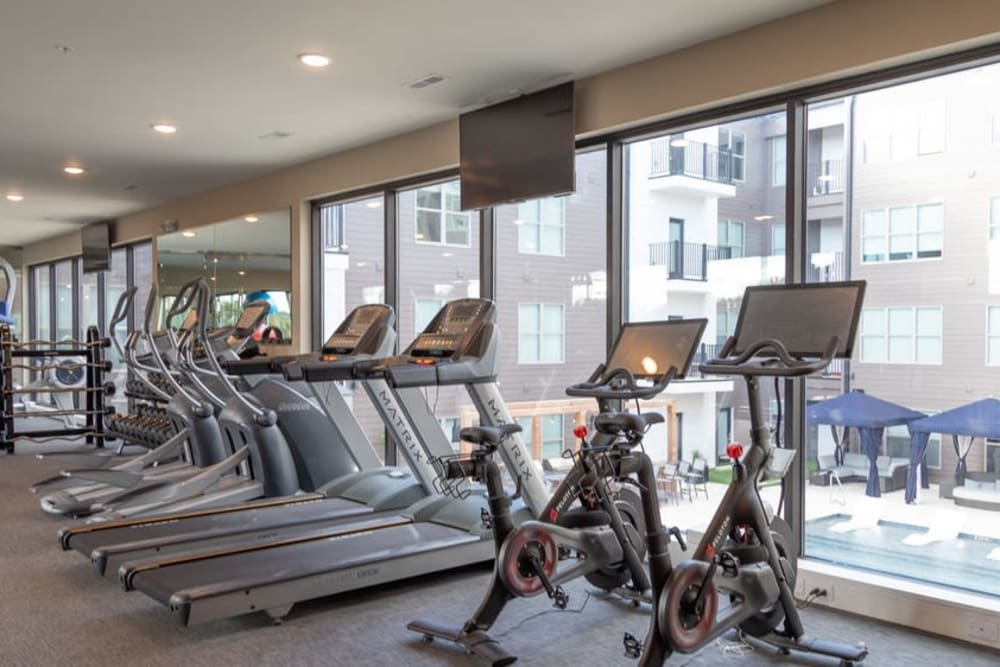 Fitness center at Tribeca with state-of-the-art equipment