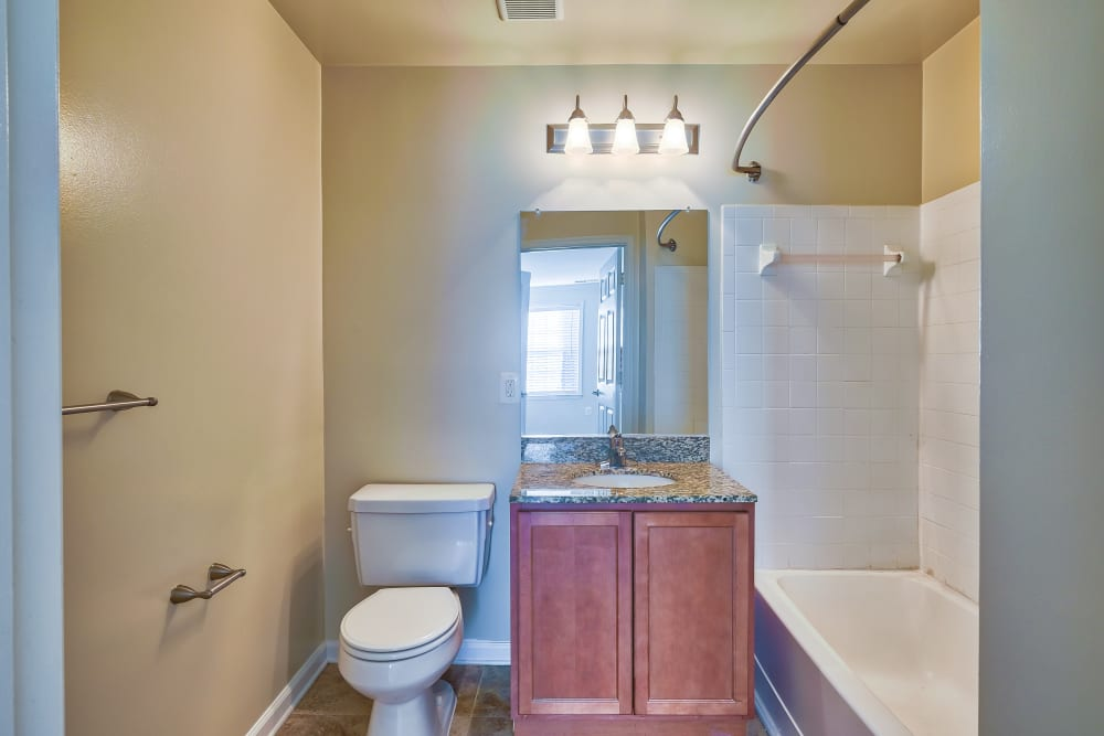 Bathroom at Abbotts Run Apartments in Alexandria, Virginia