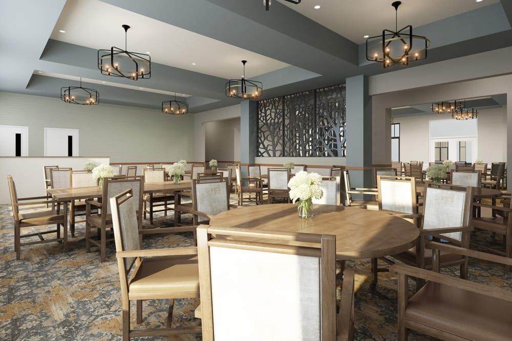 Dining hall at Anthology of Burlington Creek in Kansas City, Missouri