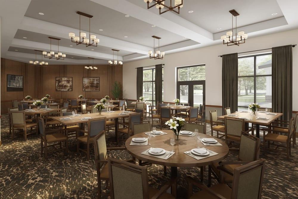 Dining room at Anthology of Burlington Creek in Kansas City, Missouri