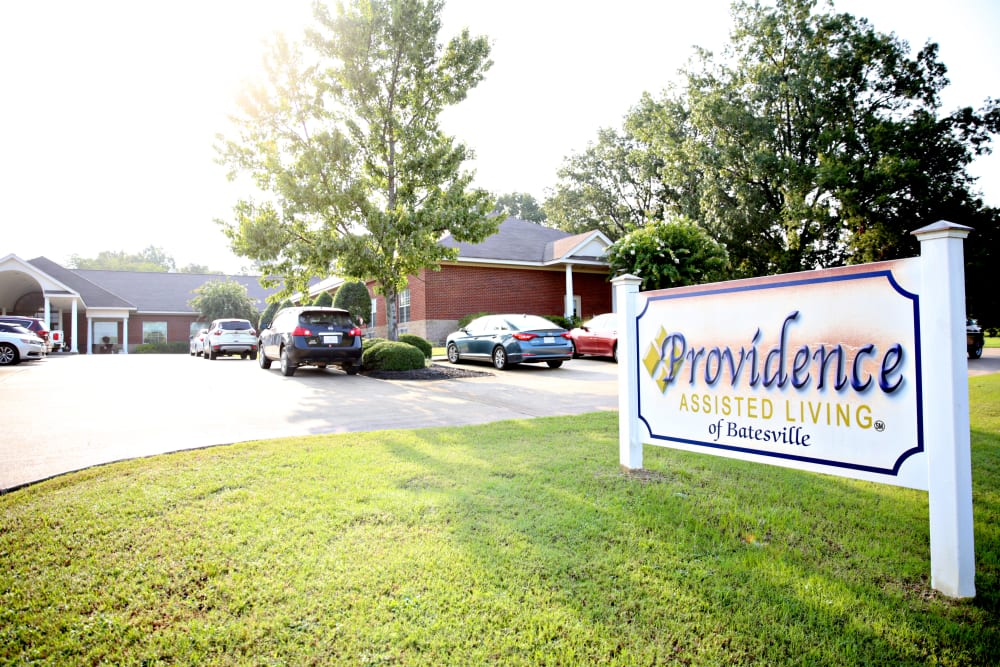 Exterior view of Providence Assisted Living in Batesville, Mississippi.