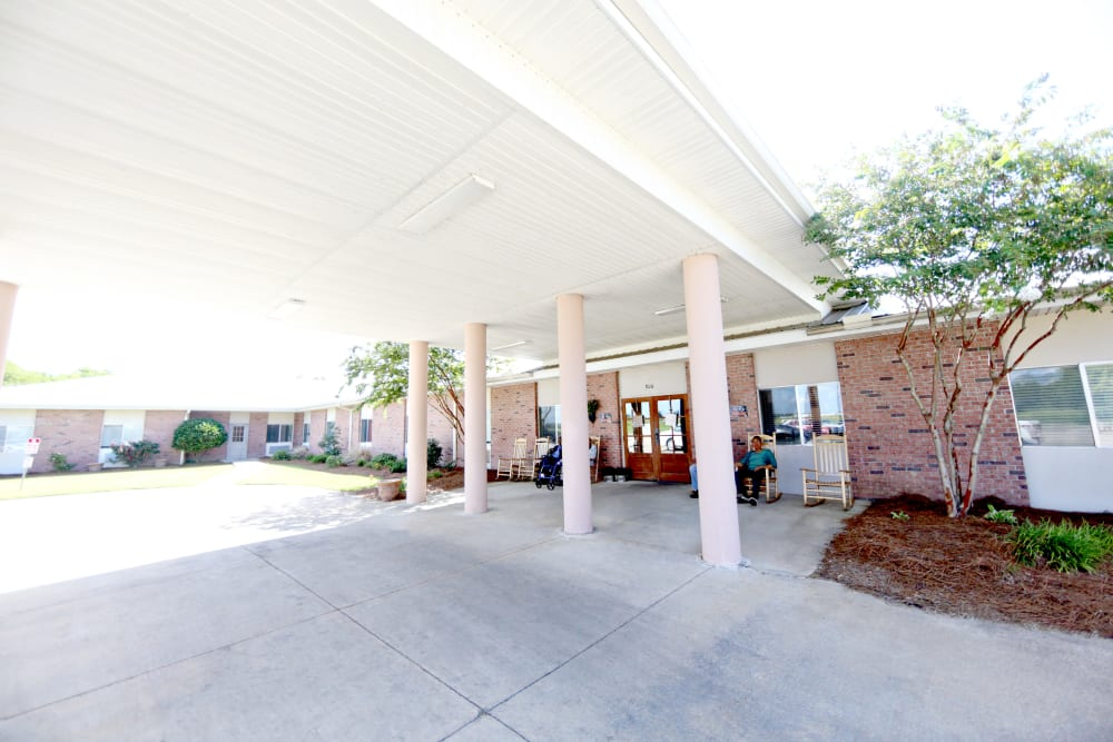 Main entryway at Providence Assisted Living in Cleveland, Mississippi
