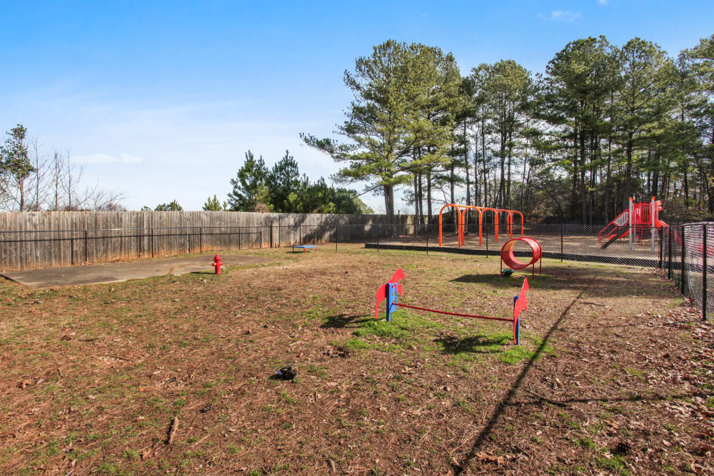 Dog Park at Fields at Peachtree Corners in Norcross, Georgia