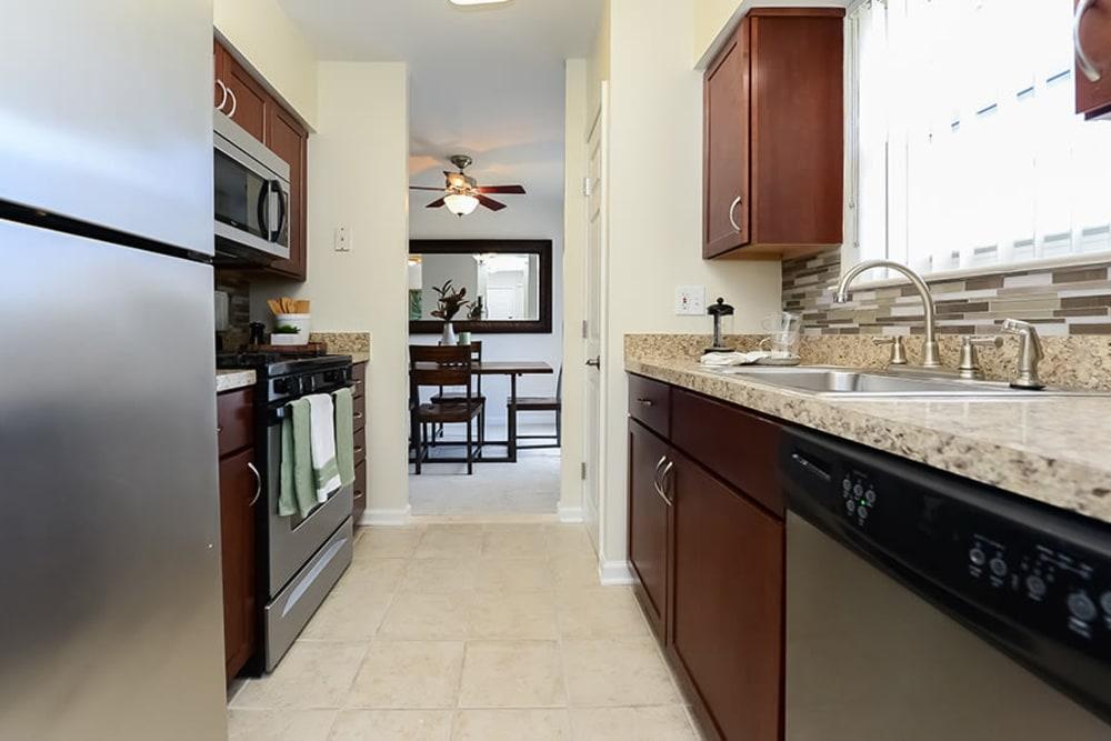 Kitchen at Sherry Lake Apartment Homes in Conshohocken, Pennsylvania