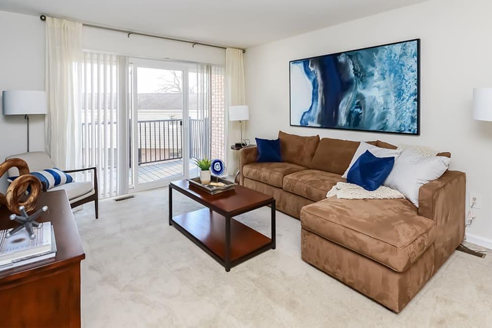 Living Room at Sherry Lake Apartment Homes in Conshohocken, Pennsylvania