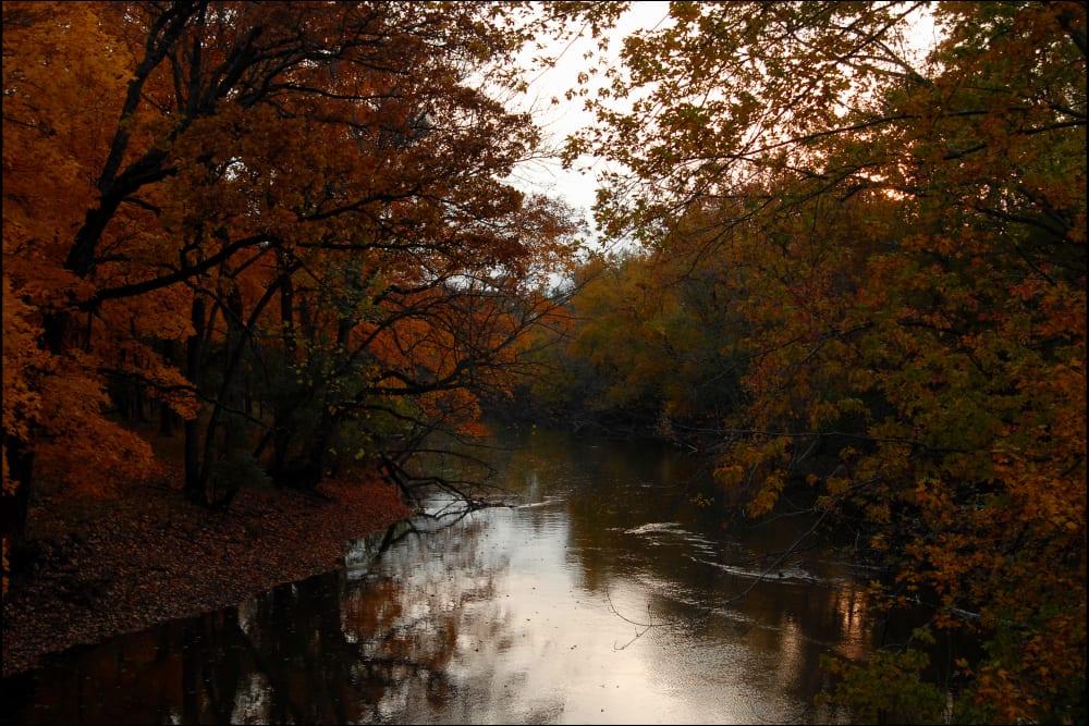 Stunning river near 301 Riverwalk Place in Buffalo Grove, Illinois